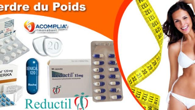 Suppresseur d'appétit Reductil (Sibutramine) 10mg