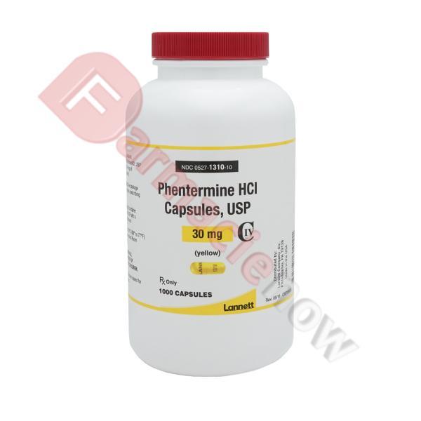 Phentermine HCL 30mg Marque Lannett