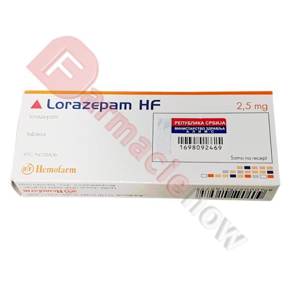 Лоразепам Бренд Хемофарм 2.5мг