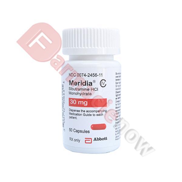 Meridia Brand (Sibutramine) 30mg  - 50 pills packaging