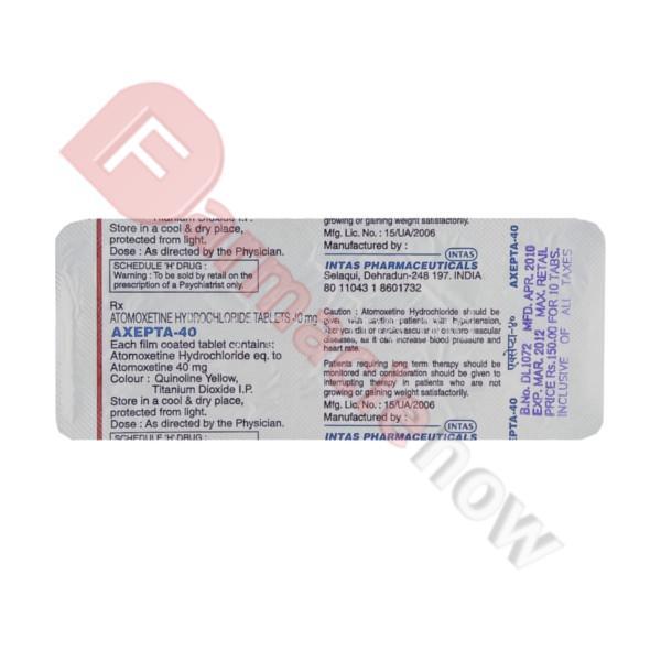 Tomoxetin Hypercon (Atomoxetina) 40mg
