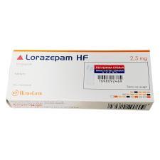 Lorazépam Marque Hemofarm 2.5mg